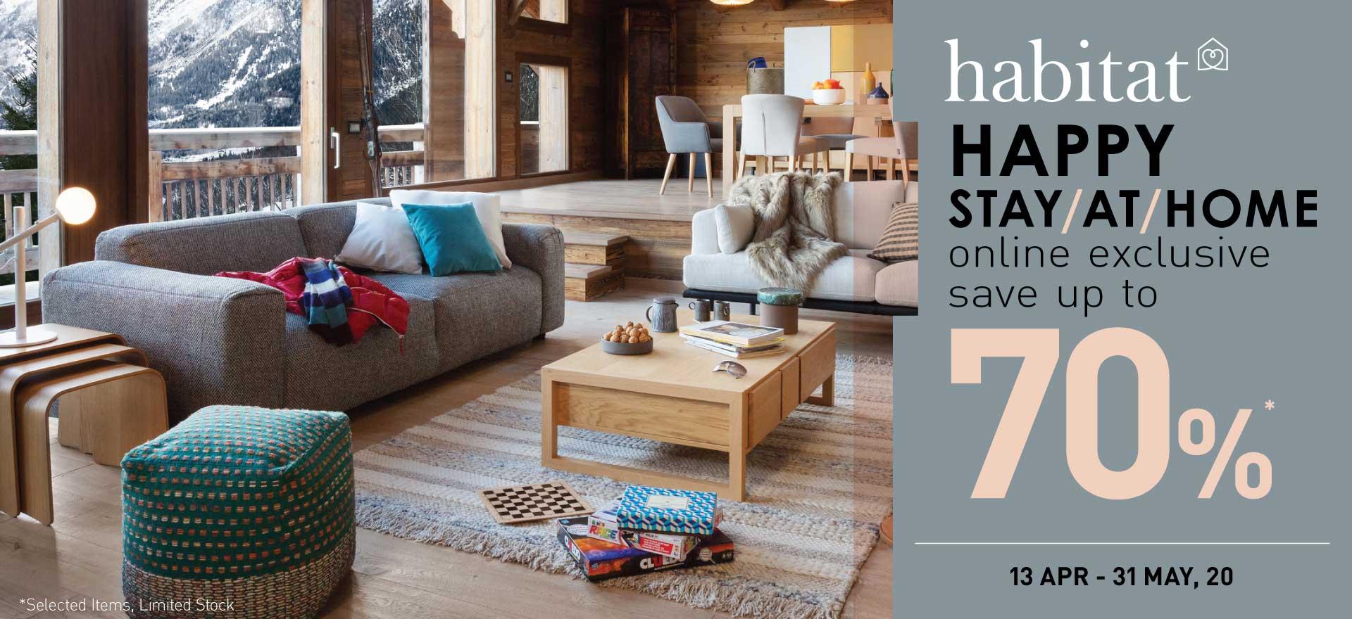 Habitat Happy Stay at Home ลดสูงสุด 70%!!