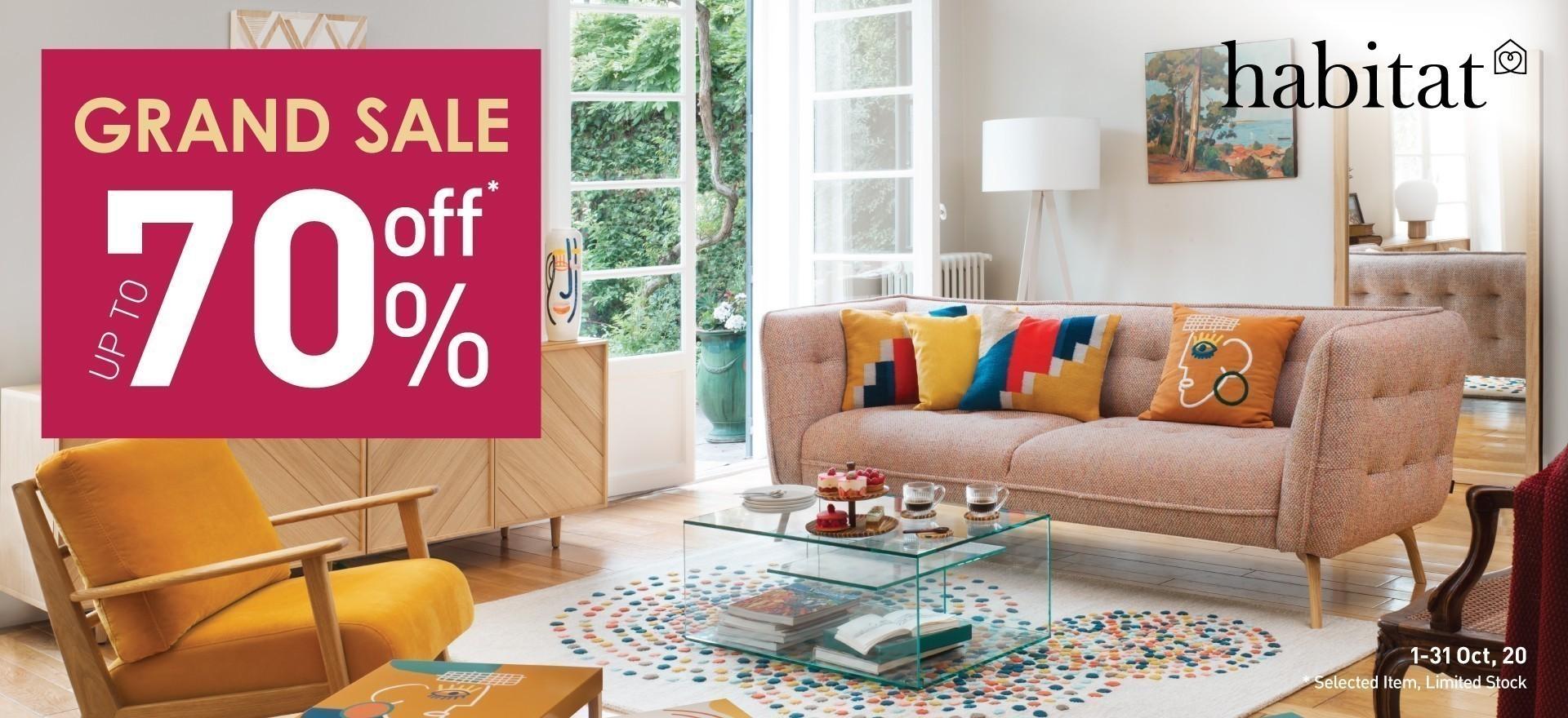 Habitat Grand Sale up to 70%off