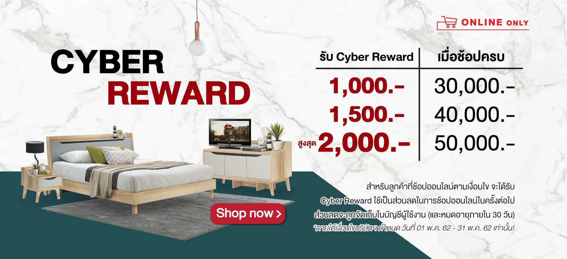 รับ Cyber Reward สูงสุด 2,000.-
